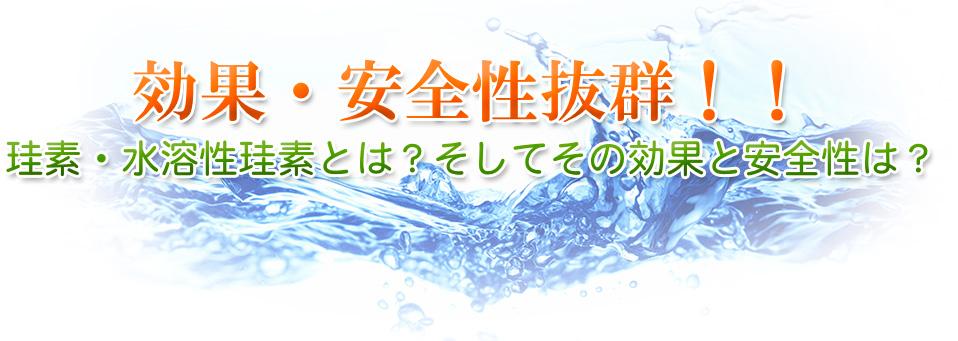 効果・珪素について珪素・水溶性珪素とは?そしてその効果と安全性は?